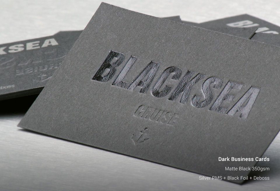 Dark Business Cards | StickerDot