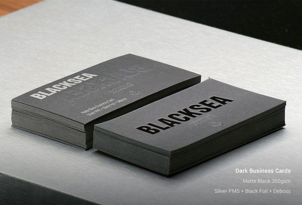 Dark Business Cards | StickerDot