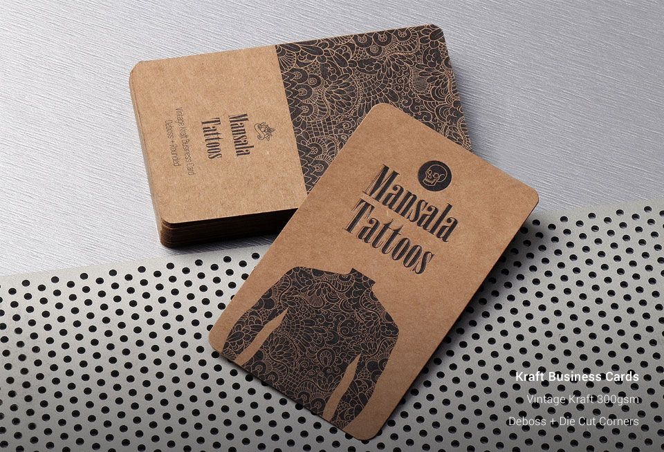 Kraft Business Cards | Vintage Business Cards | Business Cards ...