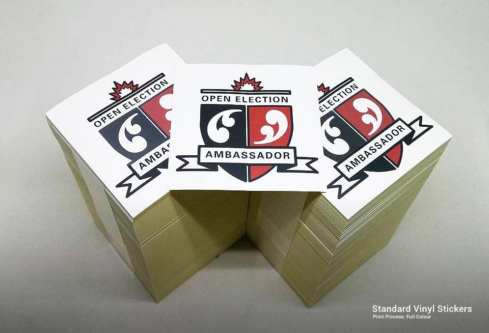 Personalised Printed Standard Vinyl Stickers Gallery