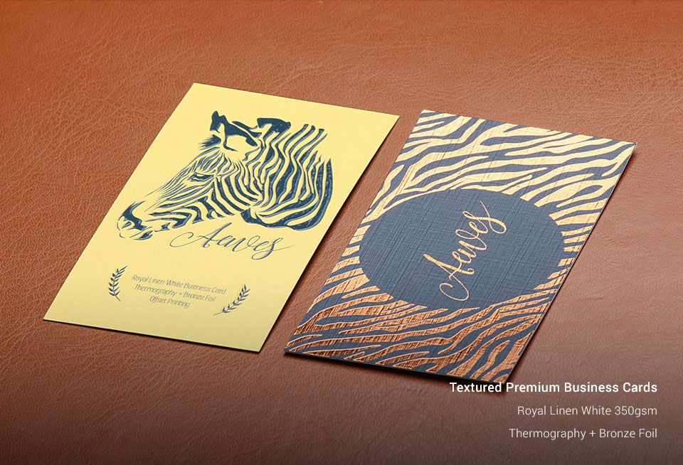 Textured Business Cards | Business Card Printing | StickerDot