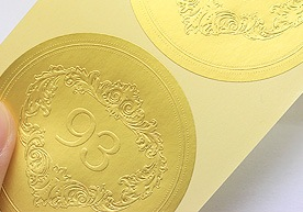 Bell Block Custom Embossed Paper Stickers Printing