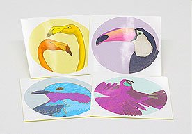 Bell Block Custom Art Paper Stickers Printing