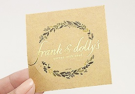 Weston Custom Kraft Paper Stickers Printing