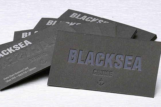 Dark business cards