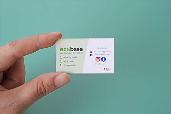 Ecobase Eco Friently Cosmetics Business Card