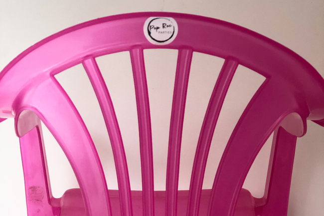Pink Chair Pop Roc Logo Stickers