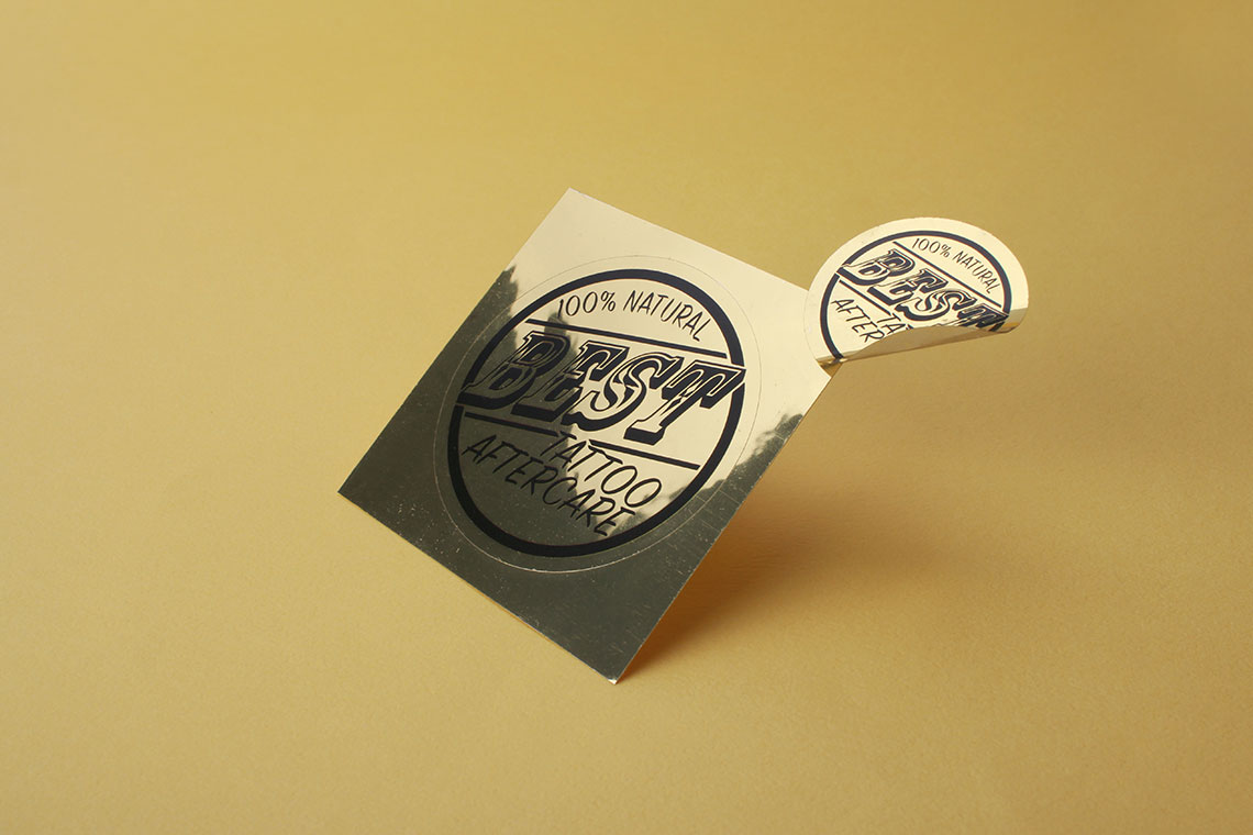 gold vinyl sticker