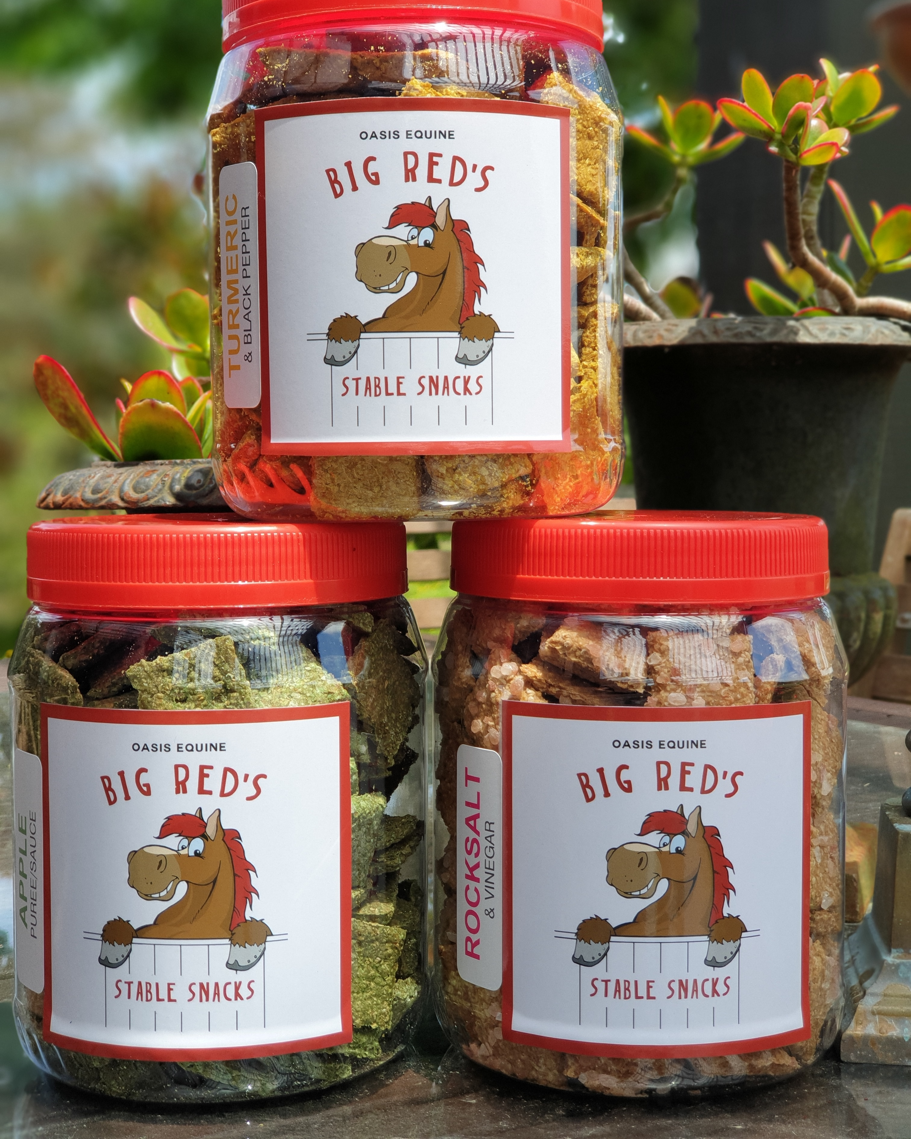 Big Red Stable Jar Stickers