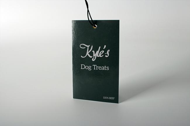 Kyles Dog Treats Print Swing Tags