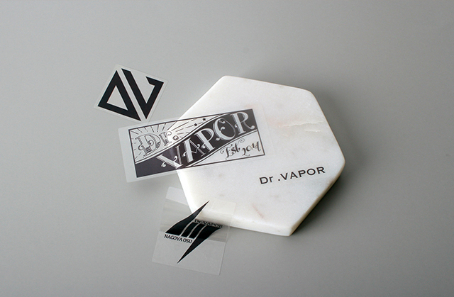 dr vapor custom transparent stickers
