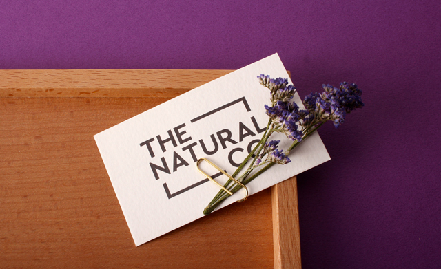the natural co custom business card