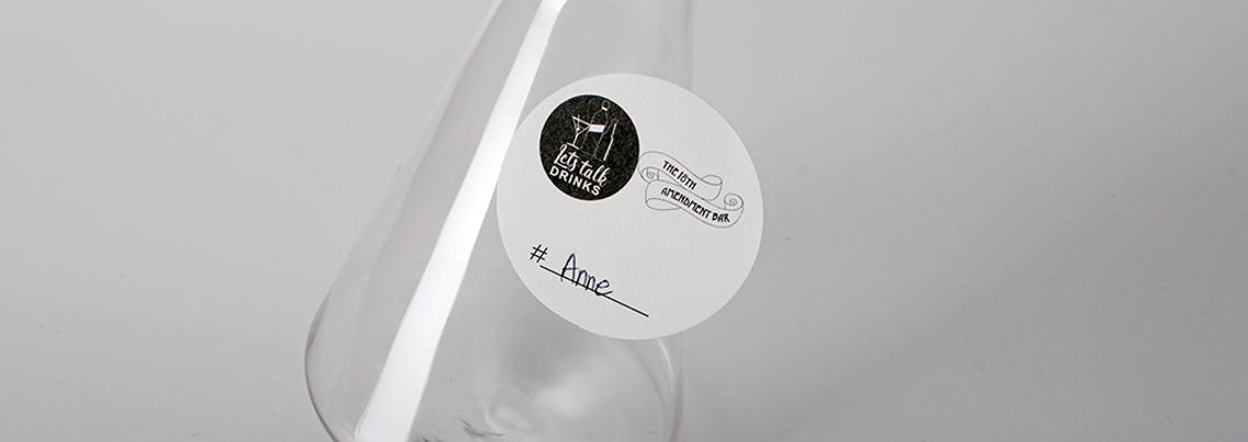 lets talk drinks custom stickers